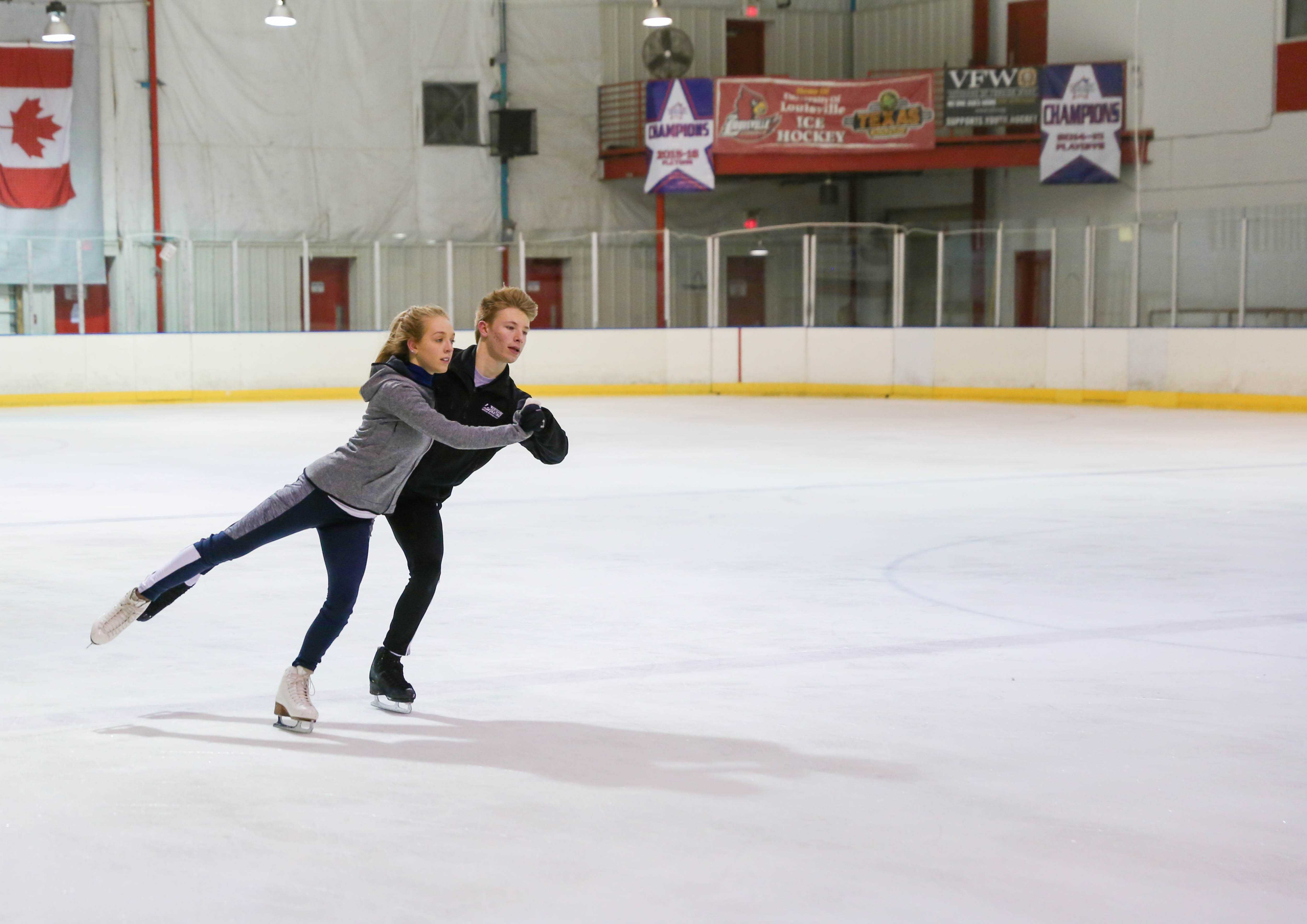 Two high school siblings ice skate their way to national placement