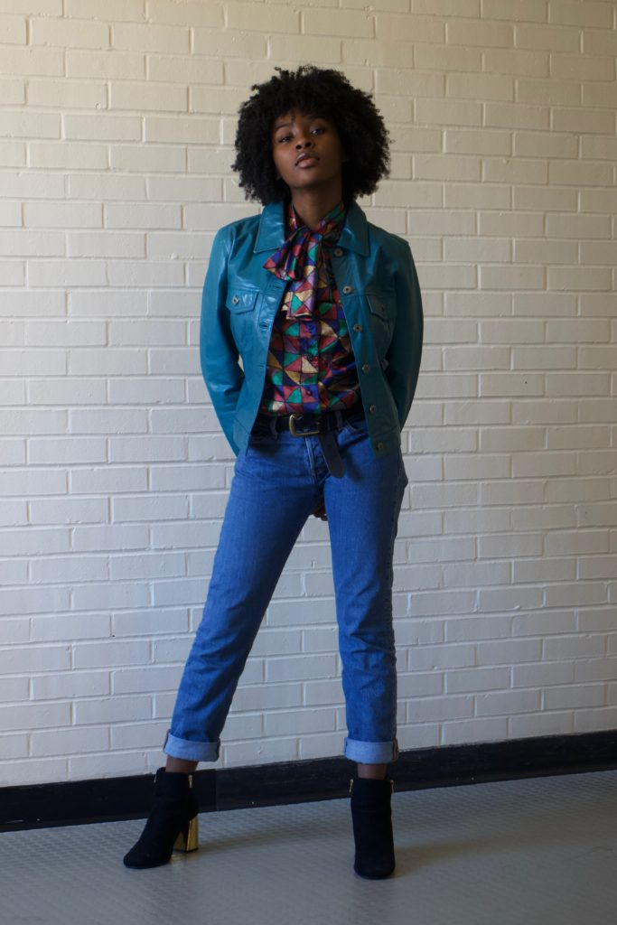 Faith Lindsey, a 16-year-old duPont Manual High School sophomore, wears thrifted and altered clothing.