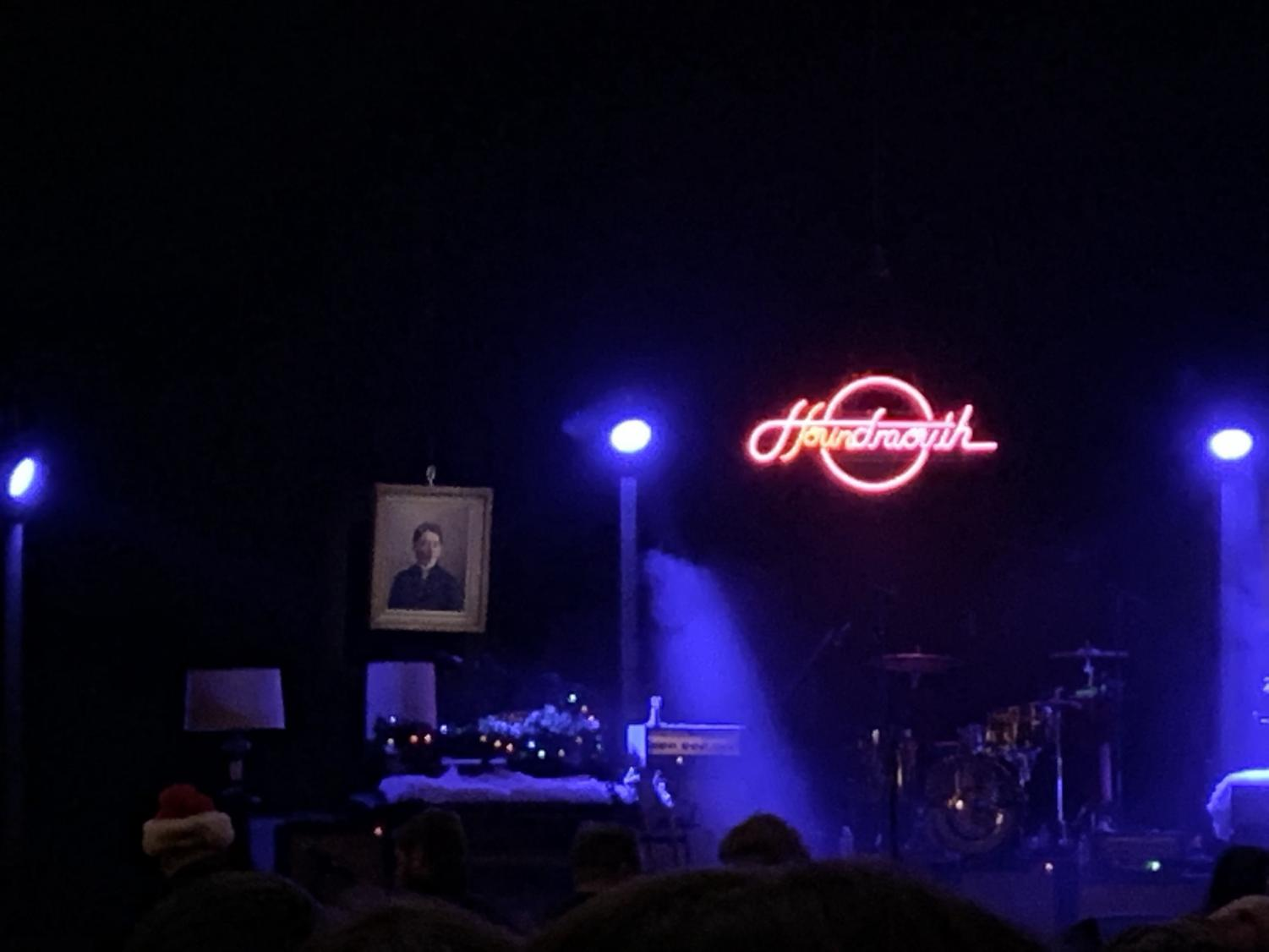The lights at Houndmouth's Dec. 22 show at the Louisville Palace