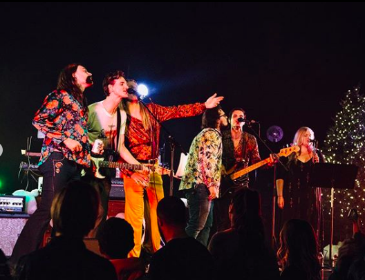 Members+of+Boa%2C+a+groove+psych+band+based+out+of+Louisville%2C+playing+at+the+Louisville+Palace+on+Dec.+22.++Photo+courtesy+of+Boa%27s+instagram.