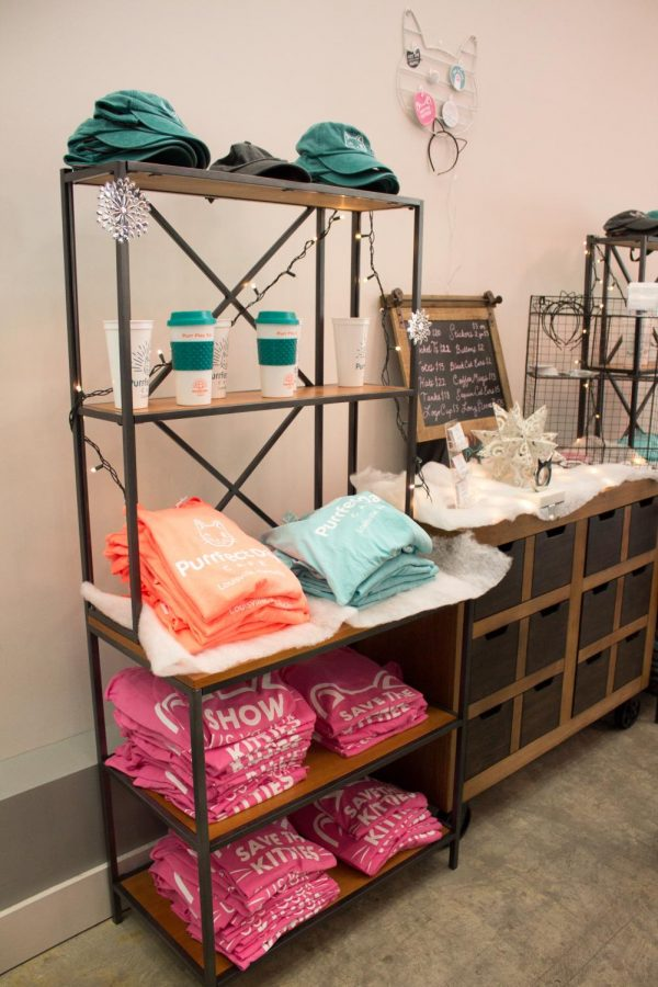 Customers can purchase merchandise at Purrfect Day Cat Cafe.