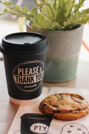COOKIE, PLEASE• A warm and chocolate chip cookie and a Mexican Hot Chocolate paired nicely.
