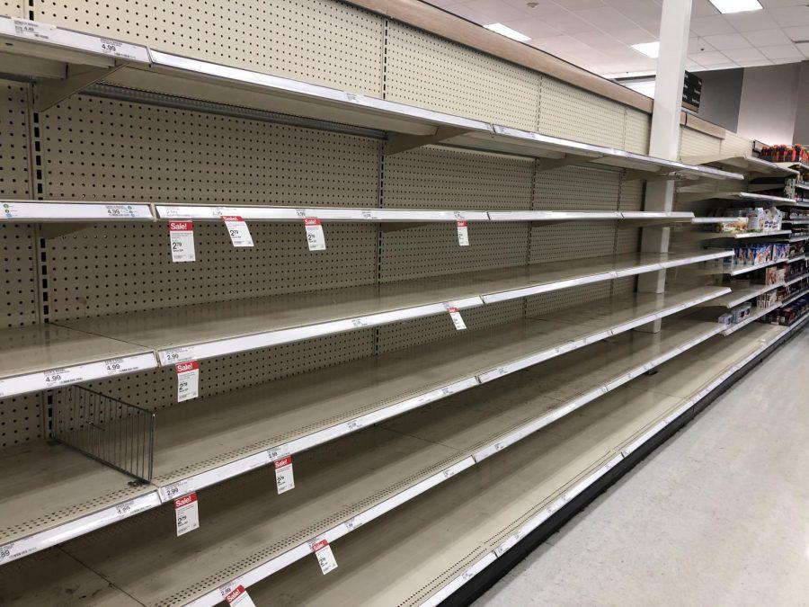 Bread aisle at Target.
