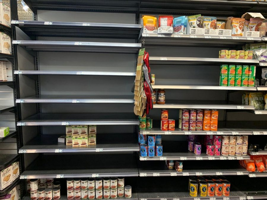 Canned goods section at Whole Foods.